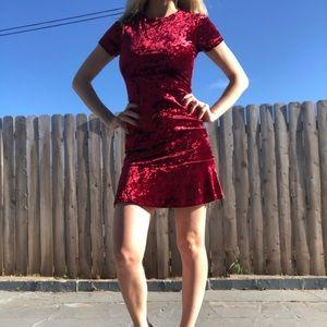 Burgundy Velvet Forever 21 Dress